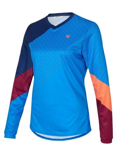 Ziener Neadie Damen langarm Bike Shirt - light blue