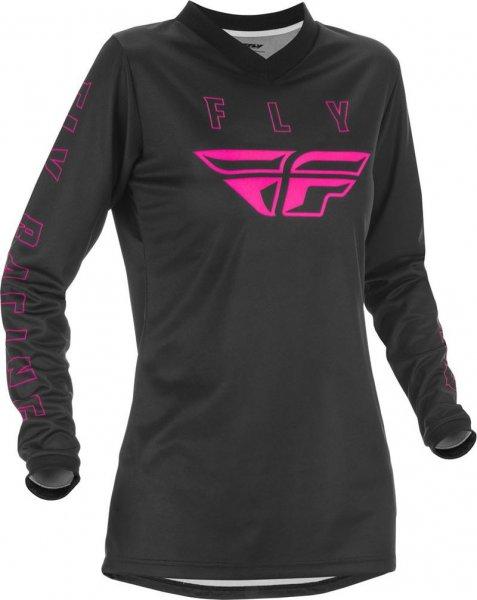 Fly Racing Hemd F-16 Lady schwarz-pink