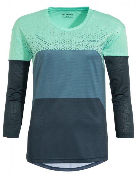 Vaude Womens Moab LS T-Shirt V - blue gray