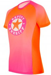 Deputy Sheriff Underground Girl 1 Bike Shirt - pink