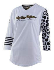 Troy Lee Designs Women Mischief Jersey - leopard white
