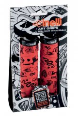 Cinelli Mike Giant Art Grips - rot