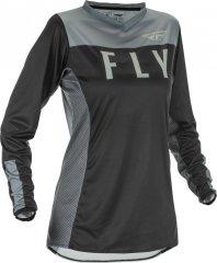 Fly Racing Hemd Lite Lady schwarz-grau