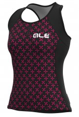 Alè Helios Lady Top - black magenta