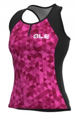Alé Triangles Lady Top - pink violet