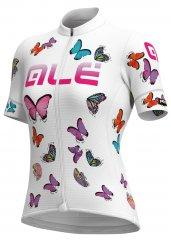 Alè Butterfly Damen Radtrikot - white