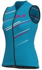 Alè Flash Lady S/Less Jersey - light blue