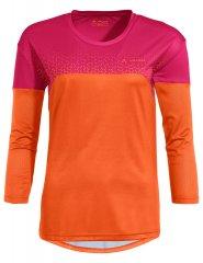 Vaude Womens Moab LS T-Shirt V - tangerine