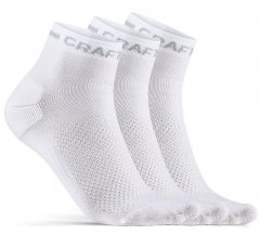 Craft Core Dry Mid Sock 3-Pack - white