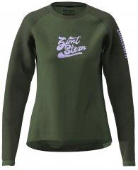 Zimtstern PureFlowz Shirt LS Women - green forest